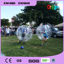 Inflatable human soccer bubble ball for football/bumper ball/soccer bubble ball for adults
