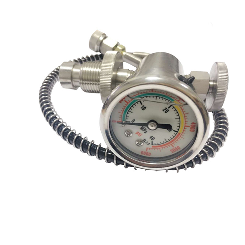 цена на 4500Psi Pcp Airforce Din Fill Station For Pcp Tanks Air Fill 304 Stainless Steel With Large 40Mpa High Pressure DIN Valve