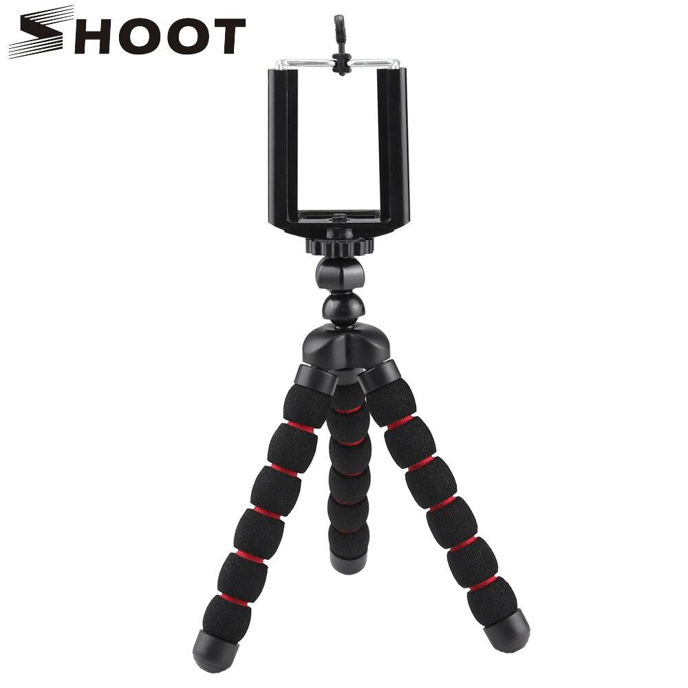 TIRER Flexible Petit Poulpe Trépied Pour Gopro SJCAM Xiaoyi Nikon Canon SONY Appareils Photo Numériques Avec Téléphone Clip Pour Mobile Téléphone