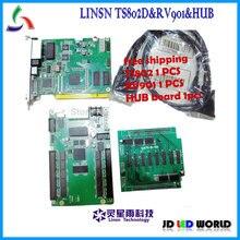 Linsn TS802 إرسال بطاقة + RV901 + hub75 فيديو كامل اللون شاشة led بطاقة وحدة التحكم