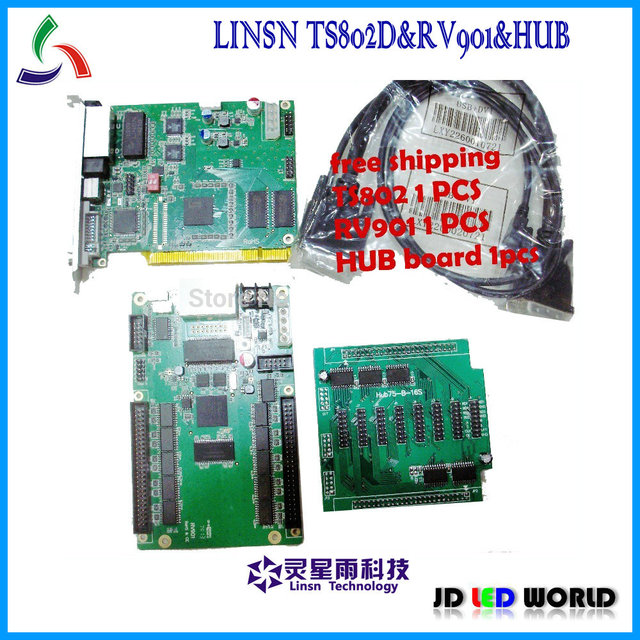 linsn TS802 sending card + RV901+hub75 video full color led screen controller card