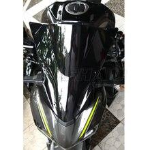 Мотоцикл двойной пузырь лобовое стекло ветер экран для Kawasaki Z900 Z 900 ZR900 черный Иридиевый дым 17 18 19