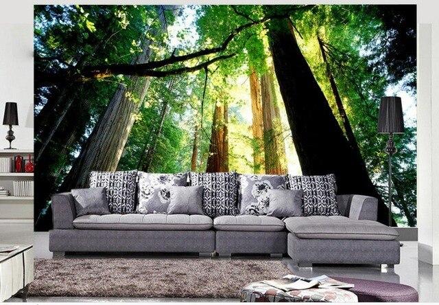 AuBergewohnlich 3d Wallpaper Natur Bäume Landschaft 3d Tapete Für Moderne Wohnzimmer Wand  Home Dekoration
