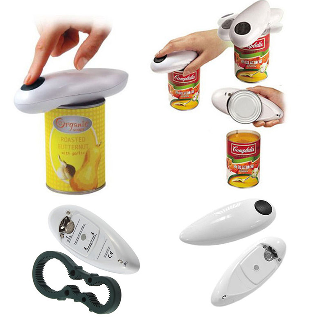 Open Tool One Touch Automatic Can Jar Opener Tin Cordless Battery Operated
