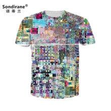 541e52619a0 Sondirane Design New Fashion Women Men Audio input 3D Print T Shirts Summer Short  Sleeve Tee Shirt Quick Dry Hip Hop Tops Unisex