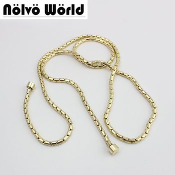 1-5-10 piece,105-120-130cm/pc 5mm gold finish 100% Copper Material,repair women handbag luxury purse chain image