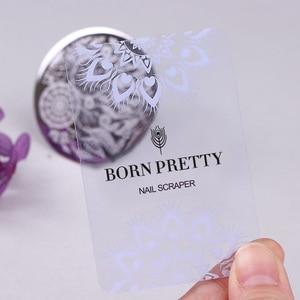 Image 4 - 2Pcs  BORN PRETTY Nail Scraper Design for Nail Stamping Nail Polish Art Scraper Stamping  Tools