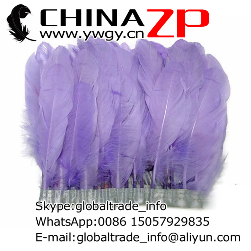 af49d2ef0c3ff1 Toonaangevende Leverancier CHINAZP Fabriek 10 yards/lot Goedkope Groothandel  Geverfd Lavendel Goose Satinettes Feather Fringe Trim