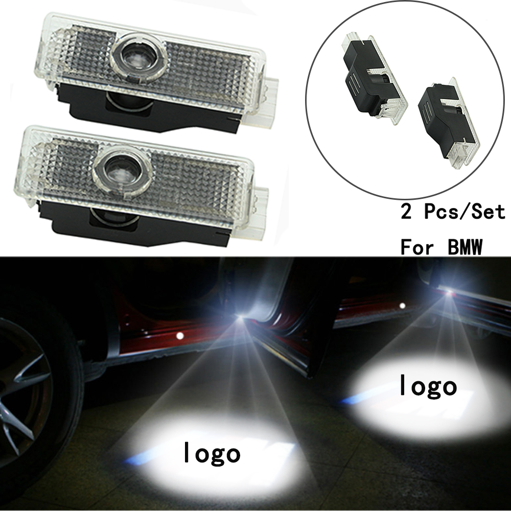 2Pcs/Set Only For BMW E60/E90/F10/F30/F15/E63/E64/E65 Lens Include With Logo Ghost Shadow Projetor Weclome Lamp LED Courtesy