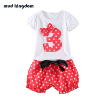 Mud Kingdom Polka Dot Girls Sets Baby Girl Clothes Birthday Gift Sets Kids Clothes Roupas Infantis