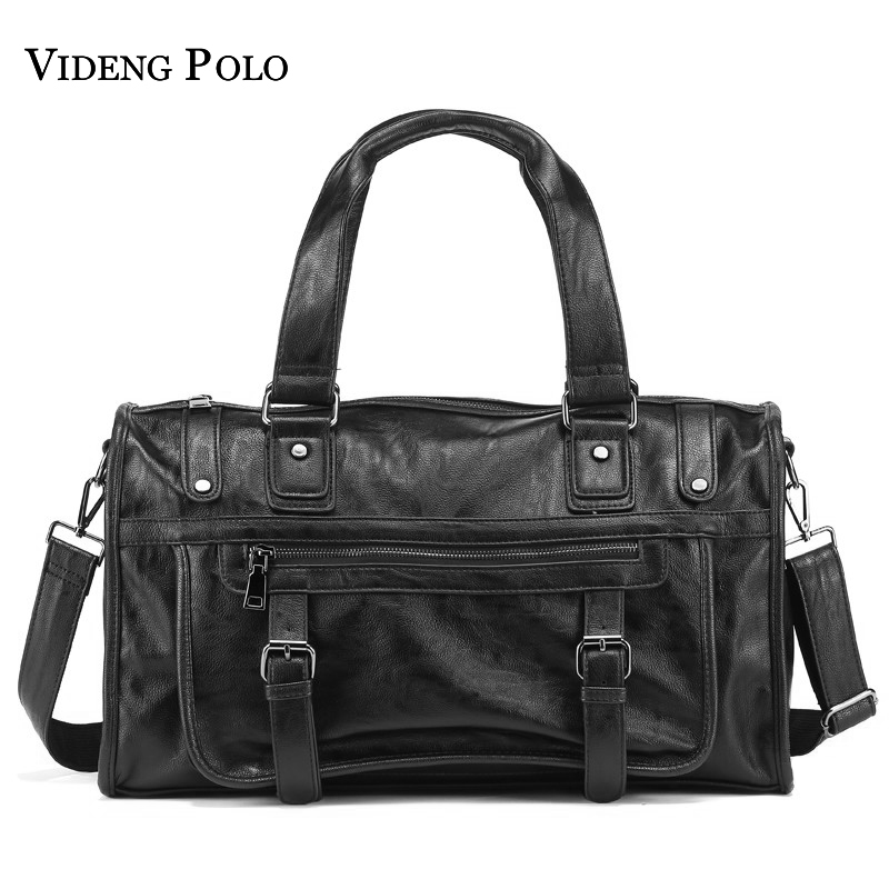 VIDENG POLO Brand Fashion Leather Handbags For Men Large Capacity Portable Travel Bags Package Shoulder Bags Men's Messenger Bag