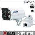 Tipo Tijolo ESCAM HD 720 P P2P Câmera IP Bala QD300W ONIVF WI-FI Câmera sem fio do CCTV NVR Vista Telefone Inteligente 4 Matriz IR LED Ao Ar Livre