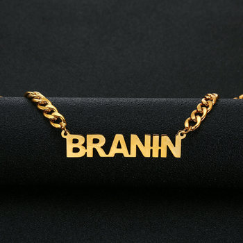 Name Necklace Stainless Steel Choker Gold Color Personalized Nameplated Necklaces & Pendants Custom Jewelry Women Man Gift game the legend of zelda cosplay accessories necklace pendants weapons vintage pendants for women man xmas gift