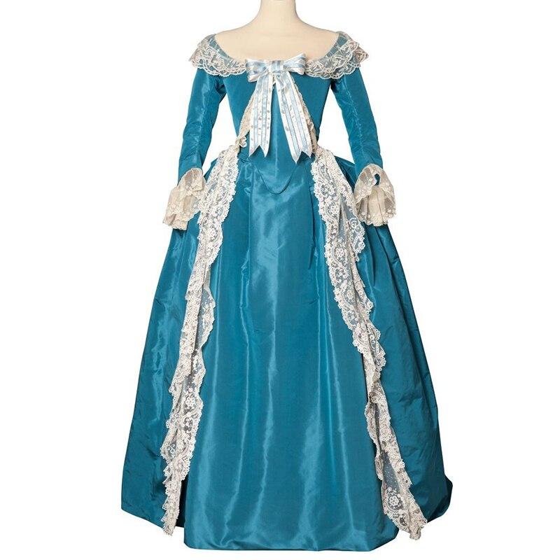Косплей diy The Duchess Косплей Костюм Платье Marie Antoinette Rococo нарядное синее платье L320