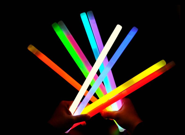Free Shipping 2016 New  Large 15 350mm Concert Neon Christmas Decorations Flash Stick Luminous Stick Glow Stick Party Ornament