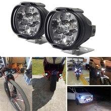 6 светодиодный яркий высокой мощности 8 Вт мотоцикл светодиодный свет белый фара рабочий свет DC 12 V вождение