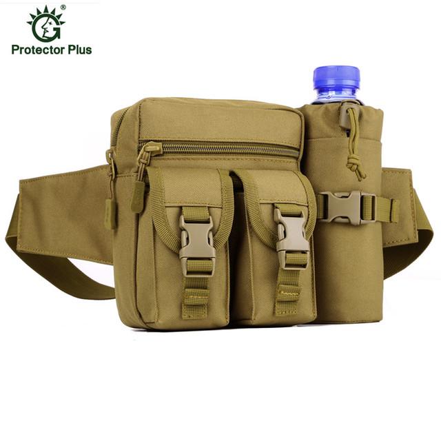 Cinturón Botella de Agua Bolso de La Cintura Bolso Militar Bolsa de Ropa Impermeable de Múltiples funciones de Camuflaje Envío Libre Z37