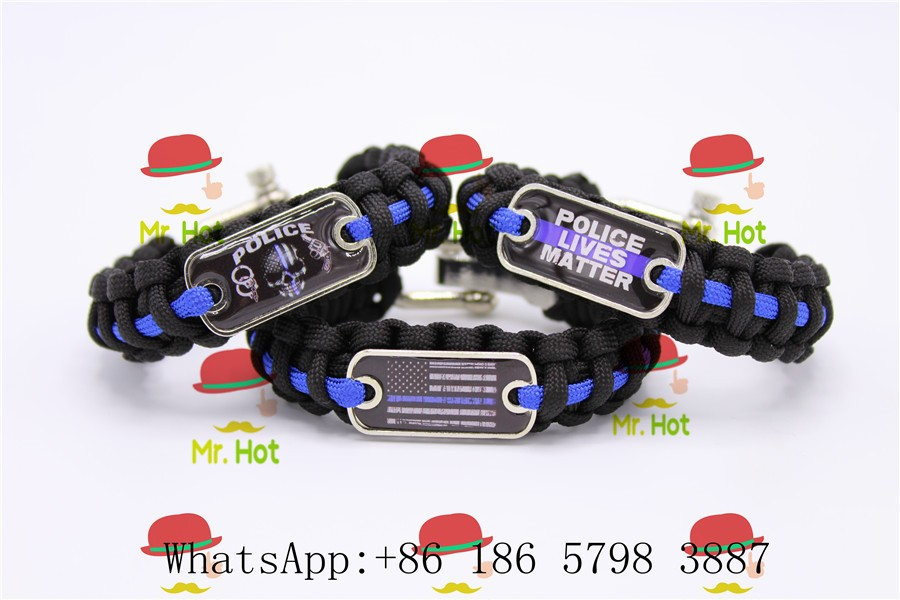 Us America Flag Law Enforcement Bracelet Adult Size Wristband Responsible Blue Line Bracelet Police Lives Matter Apparel Sewing & Fabric Arts,crafts & Sewing