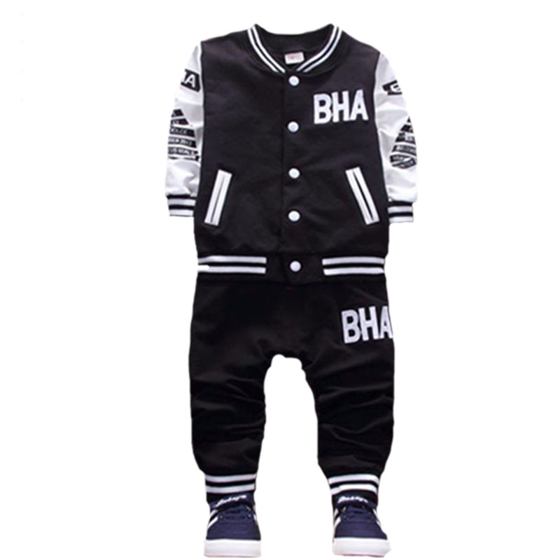 Baby boy clothes autumn and winter quality thickening warm jacket pants suit letter printed babe1 5years old children 39 s clothing in Clothing Sets from Mother amp Kids