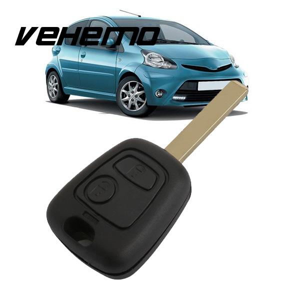 Vehemo Car 2Buttons Remote Control Key Fobs Shell with Blade For Toyota AYGO NEW(China)