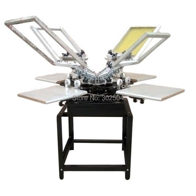 c6d67391 4 color 4 station screen printing machine T-shirt printing press screen  printer free shipping