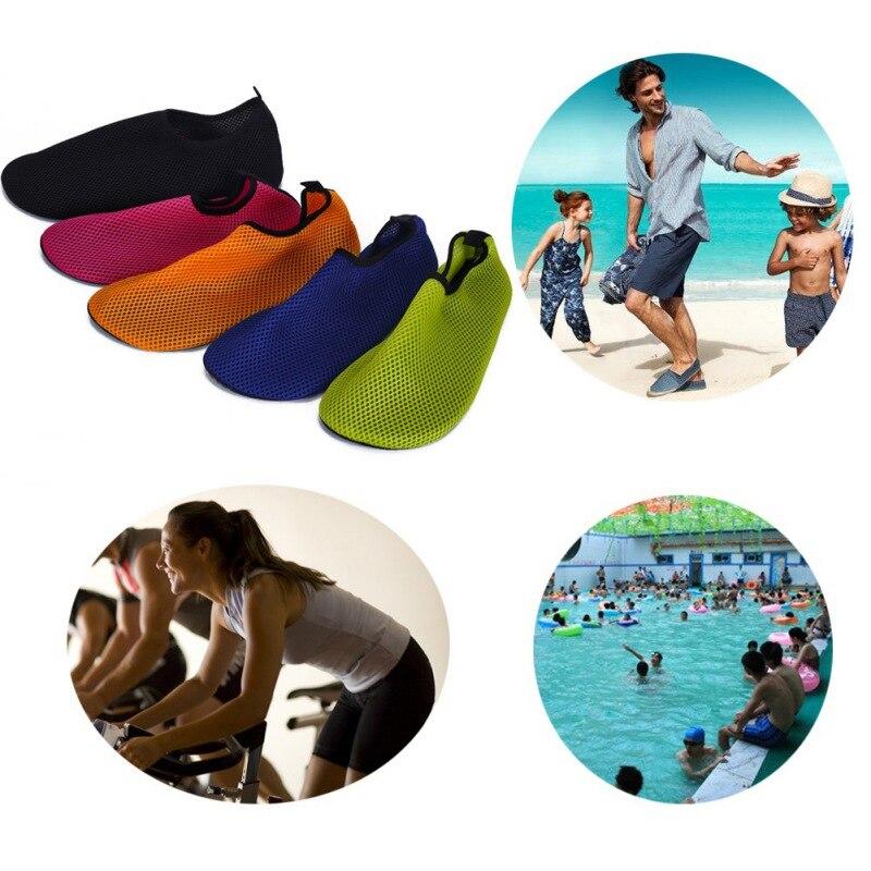 Prix pour Hommes femmes confortable lumière confortable plage yoga aqua eau peau en caoutchouc solide workout gym chaussures d'eau