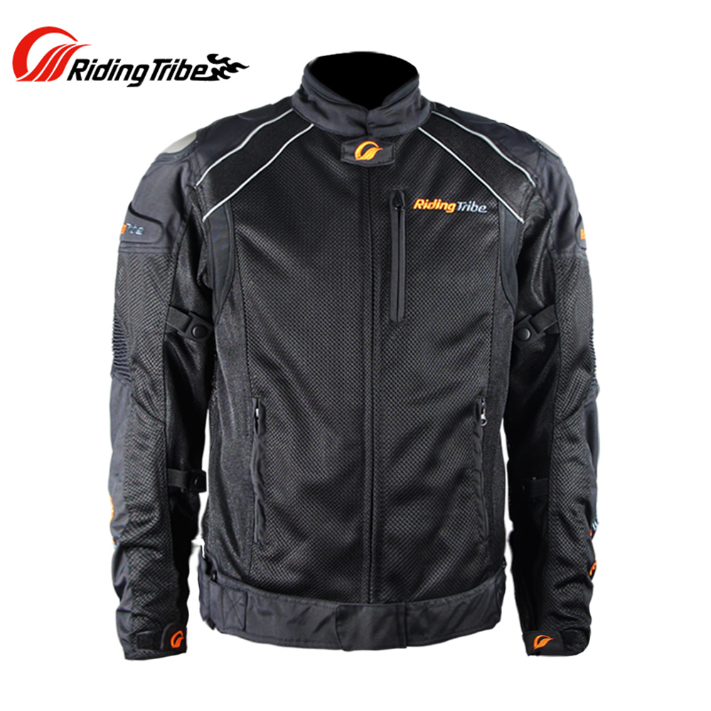 Riding Tribe Summer Motorcycle Jacket Breathable Waterproof Windproof Motocross Off-Road Moto Armor Jacket with Linner JK-30 riding tribe men s motorcycle bikes slimming protective armor jackets motocross breathable cycling suits clothes with 6 pads