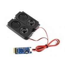 WM8960 стерео кодек аудио модуль, воспроизведение/запись, поддерживает звуковые эффекты-стерео, 3D окружающие. Встроенный двухканальный динамик порт