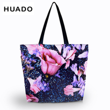 Shopping bags Casual Women Floral Large Capacity Tote Shoulder Bag Shopping Bag Beach Bags Casual Tote Feminina letters i wanna see you casual women floral large capacity tote canvas shoulder bag shopping bag beach bags casual tote feminina