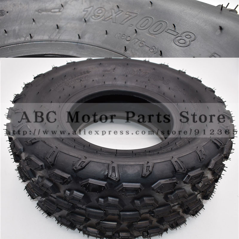 19x7.00-8 ATV 8 Inch Tire Four Wheel Vehcile Motorcycle Fit For 50cc 70cc 110cc 125cc Small ATV Front Rear Wheels Kayo Chinese