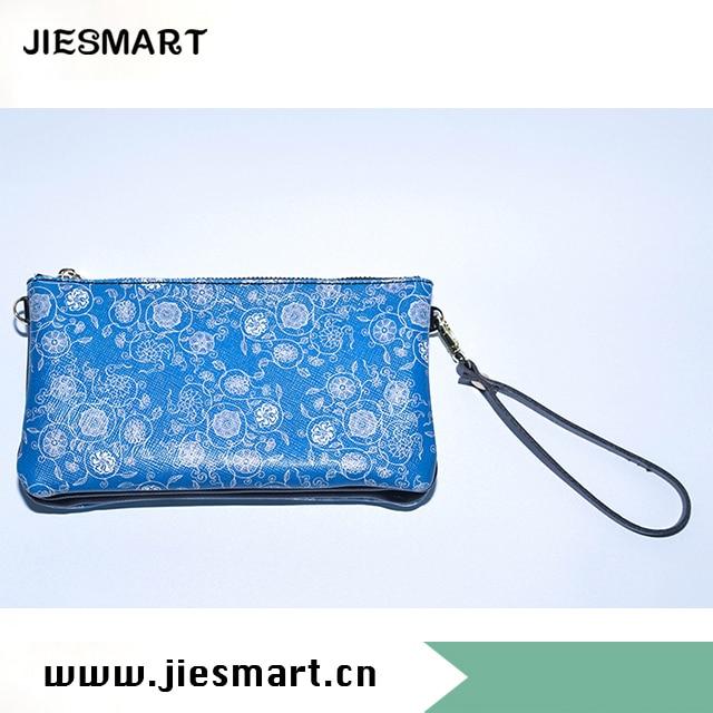 JIESMART fille en cuir véritable portefeuille femmes long portefeuille designer portefeuille dame portefeuille avec chaîne double couche sac à bandoulière