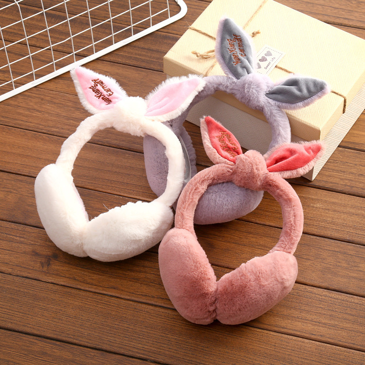 Adjustable!!!Elegant Rabbit Fur Winter Earmuffs For Women Warm Earmuffs Ear Warmers Gifts For Girls Cover Ears Fashion Brand