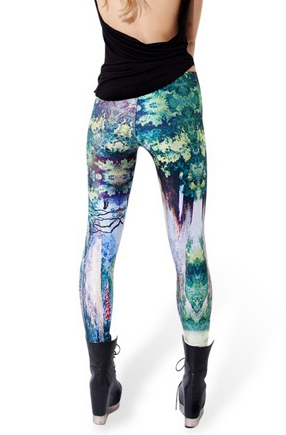 81b384900ea Women AURORA SKYE HEX COLOUR Galaxy Rainbow Cloud Black Green Muscle  Mermaid Leggings Plus Size XL -in Leggings from Women s Clothing    Accessories on ...