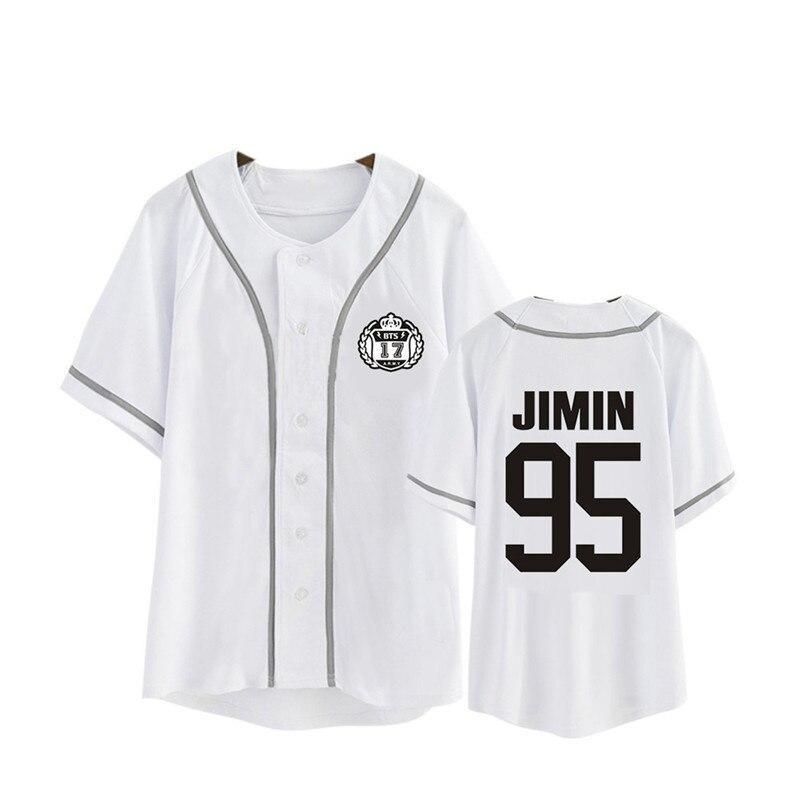 Kpop Korean BTS WINGS Album Blood Sweat &Tears Cotton Cardigan Tshirt K-POP Button T Shirts T-shirt PT479