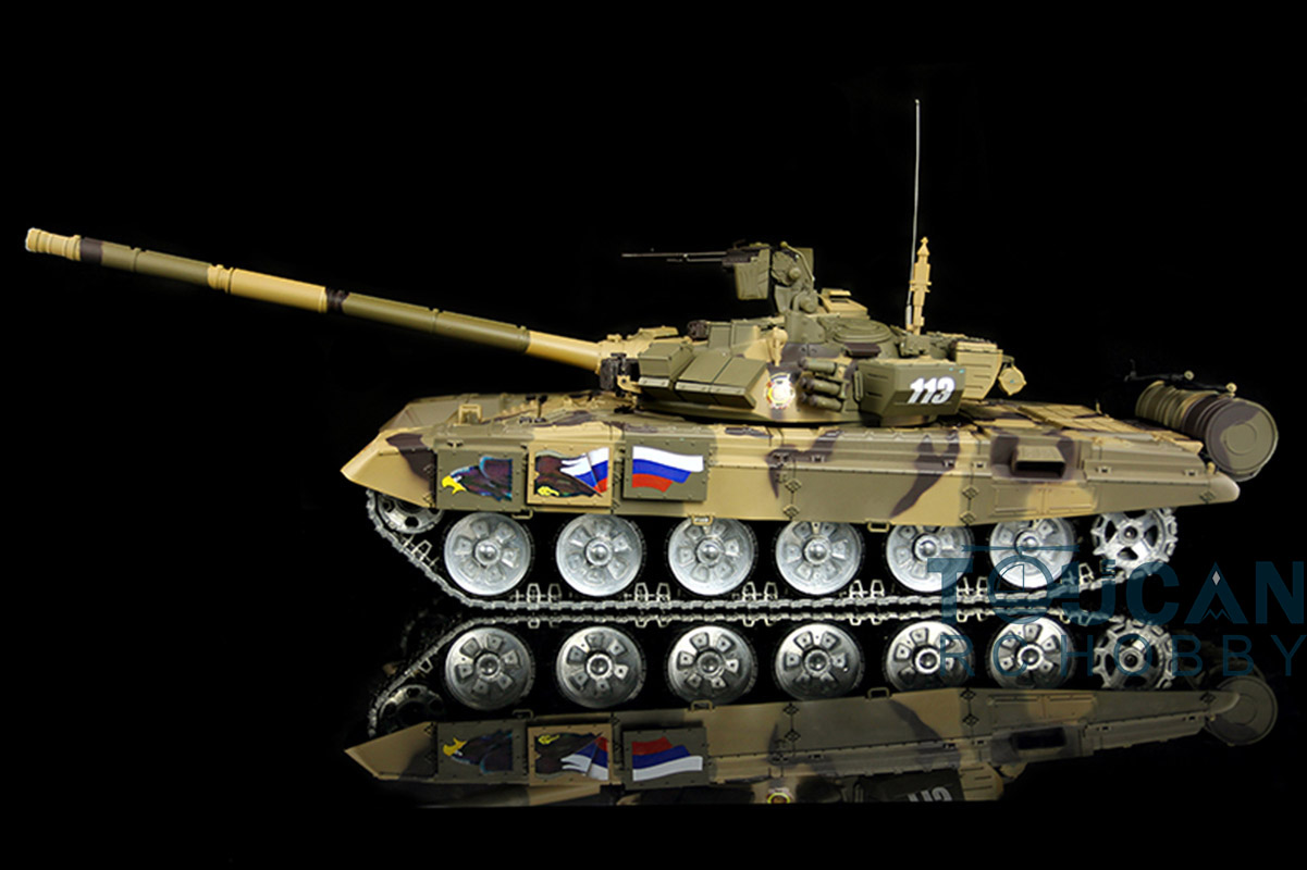 2.4Ghz HengLong 1/16 Scale Russian T90 RTR RC Tank Metal Tracks Wheels 360 Degree Rotation Turret 3938 knl hobby heng long russian t 90 1 16 scale 2 4ghz r c main battle tank 3938 1 ultimate metal version metal gear tracks somke