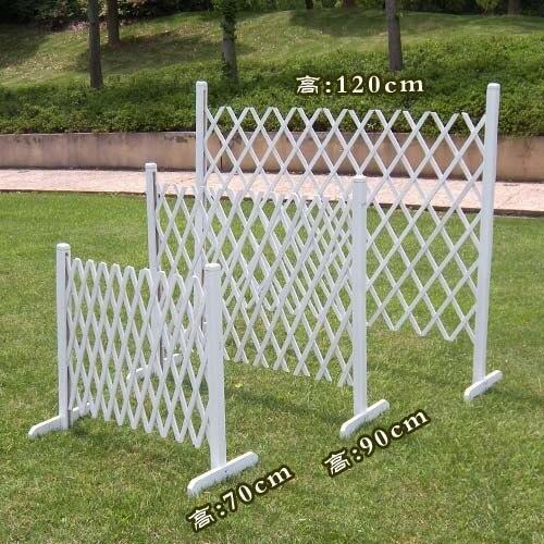 Retractable Gate Wood Retractable Fence Decoration White