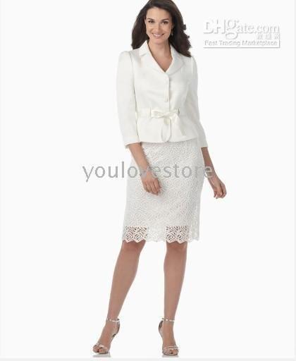 White Women Skirt Suit, Fashion Skirt Suit 2010 , Women's Suits ,Ladies Skirt Suit,Accept   497