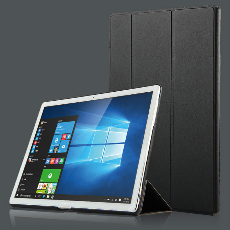 Fashion Smart Folding Protective Flip PU Leather Cover Case for HUAWEI Matebook HZ-W09 HZ-W19 HZ-W29 12 Inch