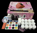 FT-123 free shipping Pro Full 36W White Cure Lamp Dryer & 12 Color UV Gel Nail Art Tools Sets Kits
