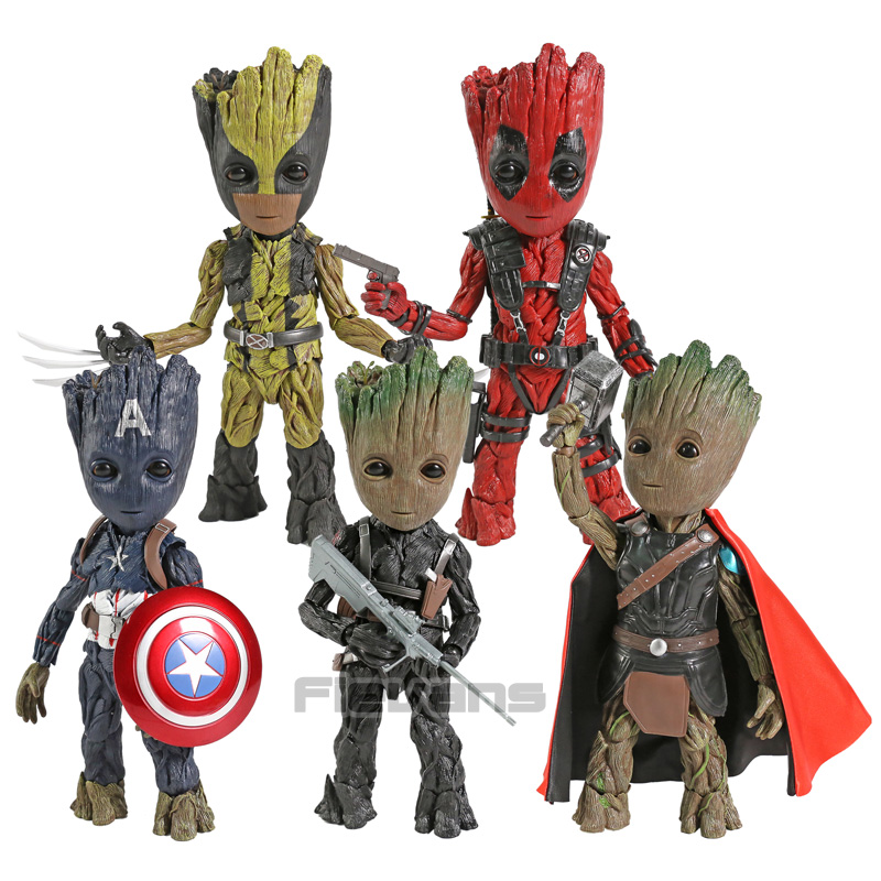 Marvel Tree Man Cosplay Deadpool Captain America Winter Soldier Thor Wolverine PVC Action Figure Collectible Model ToyMarvel Tree Man Cosplay Deadpool Captain America Winter Soldier Thor Wolverine PVC Action Figure Collectible Model Toy