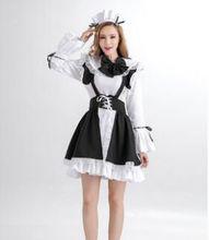 Lolita maid vestido anime maid vestido para las mujeres vestido de dama patrón de vestido de mucama cosplay