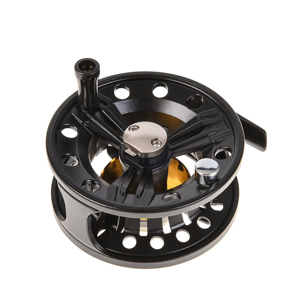 LEO Fly Reel Diameter 85mm Arbor Transparent White/Black Aluminum Fly Fishing Reel Strong Sturdy Plastic