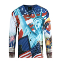 BAOLONG BRAND HIGH Quality America usa Statue of Liberty 3d printed long sleeve polo ralphmen shirts tommys camisa shirts