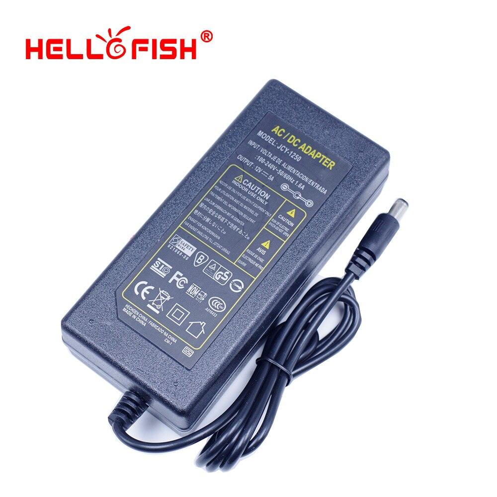 Hallo Fisch 12 V 5A 60 Watt Netzteil für 5050 LED Streifen LED-Module Stromversorgung Beleuchtung Transformator Freies verschiffen