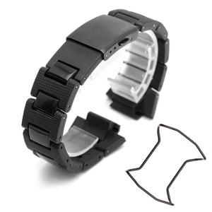 Image 5 - Plastik saat bandı 26*16mm kayış DW 6900/DW9600/DW5600/GW M5610 ve paslanmaz çelik kasa tampon aksesuarları