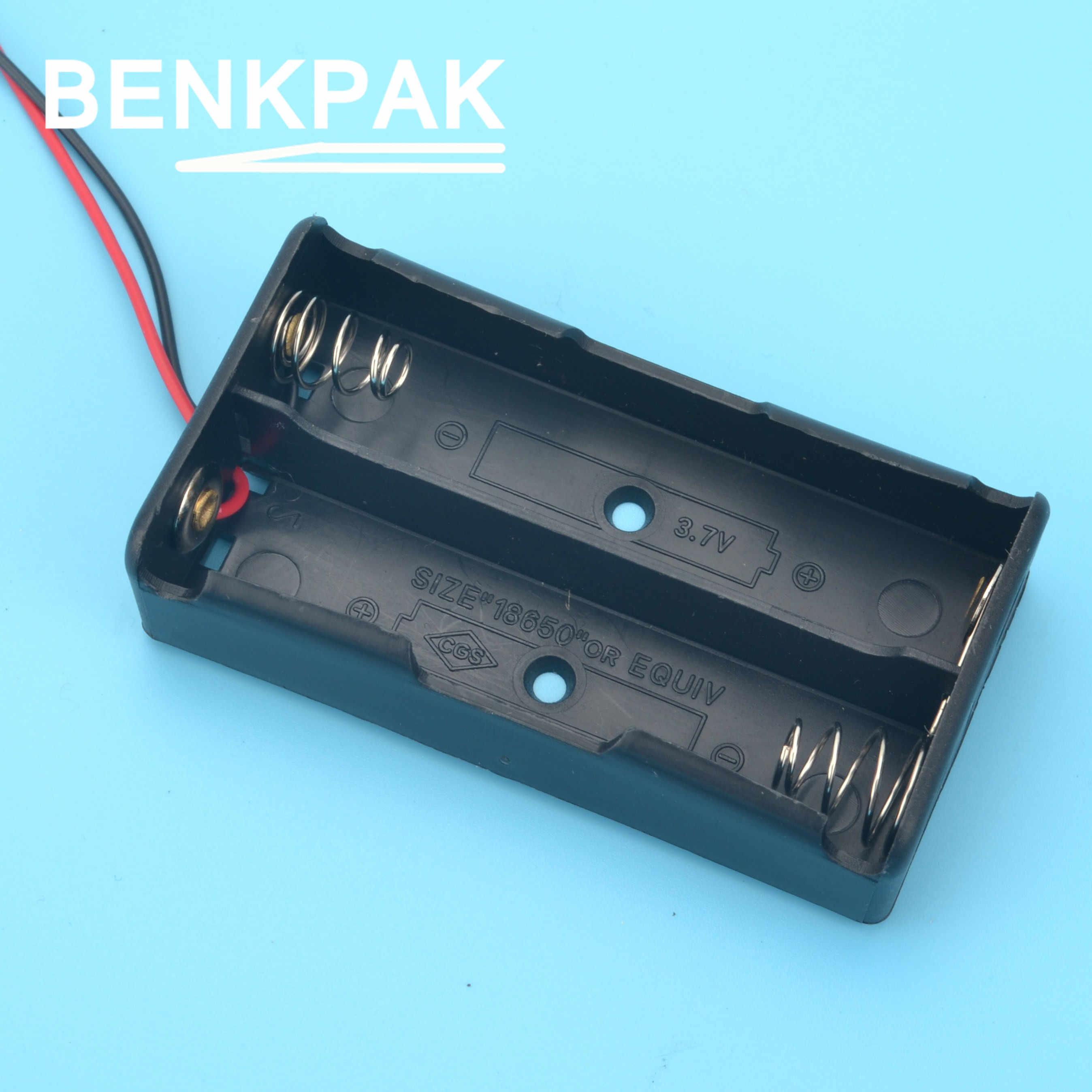 2 pcs/lot BENKPAK nouvelle batterie externe 18650 support de batterie en plastique boîtier de porte-boîte de rangement pour 2x18650 pour compteur d'énergie