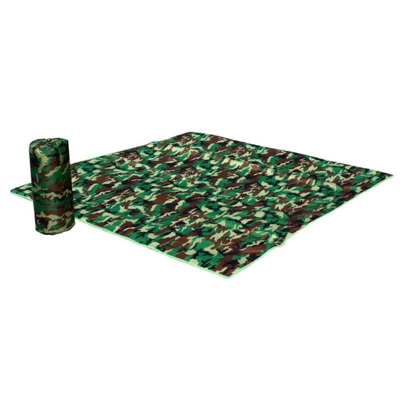 Outdoor Fold Mat Camouflage Rug Camping Beach Carpet