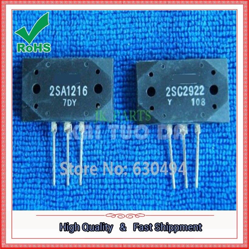 Free Shipping 1pair(2pcs) 2SA1216 & 2SC2922 Transistor A1216 & C2922