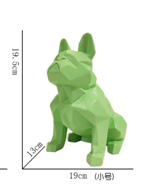 Nórdico abstracto geométrico resina perro estatua moderna minimalista bulldog francés escultura estatua animal adorno artesanía decoraciones-in Estatuas y esculturas from Hogar y Mascotas    2