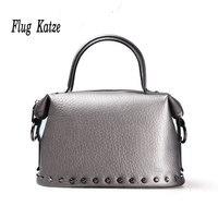 Neue Europäische damen mode-trend der einkaufstasche schultertasche niet umhängetasche groß tasche kuh Leder frauen handtaschen